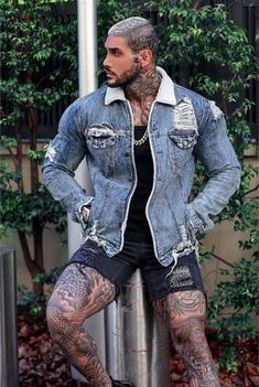 See related links to what you are looking for. Hot Guys Tattoos, Sexy Tattoos, Suit Fashion, Mens Fashion, Sexy Tattooed Men, Hunks Men, Look Man, Body Building Men, Beefy Men