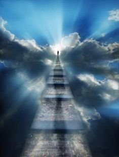 Awesome stairway to heaven prophetic art! Stairway To Heaven, Heaven Pictures, Jesus Pictures, Beautiful Pictures, Heaven Tattoos, Heaven Art, Jesus E Maria, Spiritual Images, Illustration Vector