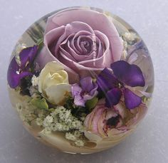 Wedding flower paperweights from £144.95