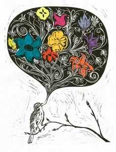 The Littlest Birds Sing the Prettiest Songs    This sparrow is calling us to wake up.   Note Card: 5 x 7 (127 x 178 mm), Image on the front,