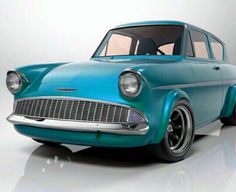 Ford Anglia in Turquoise Automotive Art, Automotive Industry, Classic Hot Rod, Classic Cars, Ford Anglia, Us Cars, Toyota Celica, Psych, Cars And Motorcycles