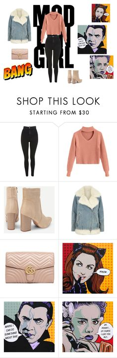 """""""Untitled #294"""" by natalyholly on Polyvore featuring Topshop, River Island, Gucci and Hello Kitty"""