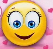 emoji emoticon Sending a smile Animated Smiley Faces, Emoticon Faces, Funny Emoji Faces, Animated Emoticons, Funny Emoticons, Happy Emoticon, Smileys, Images Emoji, Emoji Pictures