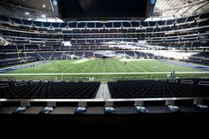 A view of the field from the owner's suite at AT&T Stadium. - Allison V. Smith for The New York Times