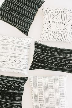Mud cloth pillows from loomgoods.com