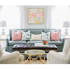 A pop of pillows for spring!