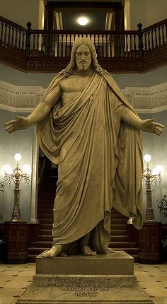 """Jesus Statue in Johns Hopkins Hospital. """"Come unto me all ye that are weary and heavy laden, I will give you rest."""""""