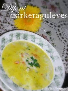 Süss, alkoss...!: Dijoni csirkeraguleves Zeller, Cheeseburger Chowder, Cantaloupe, Soup, Fruit, Soups