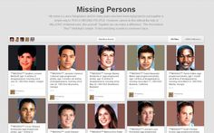 MISSING PERSONS PINTEREST BOARD @Lance Hargreaves  http://www.pinterest.com/lance7769/missing-persons