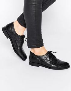 Bronx Leather Lace Up Flat Shoes
