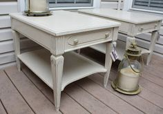 The Black Sheep Shoppe: Vintage End Tables painted in Old Ochre (Annie Sloan Chalk Paint). $75/each at The Lebanon Ohio Peddler's Mall. Row #5, Booth #139.
