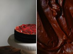 Chocolate Strawberry Layer Cake -- this is seriously the most delicious chocolate cake ever