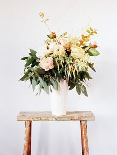 spring spilling out of a vase * {jessica sloane event styling & design} Fresh Flowers, Beautiful Flowers, Spring Flowers, Wild Flowers, Spring Bouquet, Rustic Flowers, Purple Flowers, Simply Beautiful, Ikebana