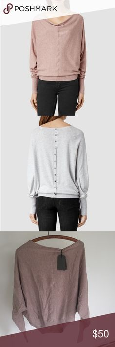 NWT all saints Brand new super comfy all saints sweater. Can also be worn backwards. Soft and light weight All Saints Sweaters
