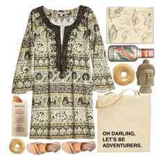 """""""Shall We, Darling?"""" by ladyvalkyrie ❤ liked on Polyvore featuring Calypso St. Barth, Chloé, Nearly Natural, Moleskine, Martha Stewart, women's clothing, women, female, woman and misses"""