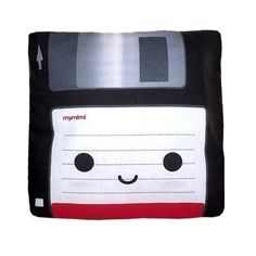 Floppy disc pillow! Supposedly kids these days don't know what the save icon actually is, they only know that it saves. This is because they don't know what floppy disks are. How's that for feeling old eh!