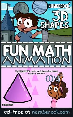 Fun Examples of Shapes Video Ideal for Kindergarten, and Grade, this energetic video wil 3d Shapes Kindergarten, Kindergarten Songs, Homeschool Kindergarten, Teaching Math, Preschool, 3d Shapes Activities, Geometry Activities, Math Activities, Math Games