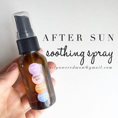 We've had a total blast in the sun the last few days. Tiny shoulders and backs got a wee bit pink, so I gave them a quick spray with this doTERRA essential oil blend and they had no discomfort and it faded fast. Bonus - smells amazing! It can be kept in the fridge to make it extra soothing.  2 oz glass spray bottle 10 drops Lavender 10 drops Frankincense 5 drops Geranium 3 drops Peppermint  Top with FCO. Shake and spray as needed!