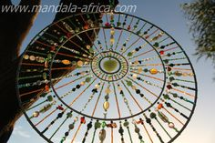 Sacred Dream Mandalas are created to be used as a Sun Light Catcher, as well as. a dream catcher, for contemplation and wholeness toward unity Wine Bottle Trees, Wine Bottle Crafts, Wine Bottles, Glass Garden, Garden Art, Mantras Chakras, Dream Catcher Decor, Dream Catchers, Diy Wind Chimes