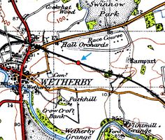 Disused Stations:Wetherby Racecourse Station Disused Stations, Yorkshire, Maps, Blue Prints, Map, Yorkshire Terrier Puppies, Cards