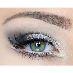 Silver eyeshadow. I love it, and it's perfect for blue eyes. <3