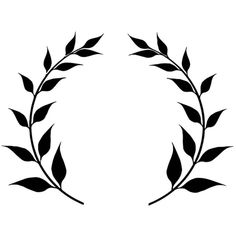 Coloring page laurel leaf crown. Free, printable, realistic. Coloring... ❤ liked on Polyvore
