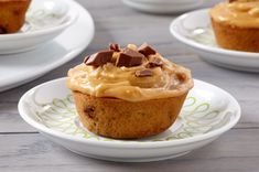 Chocolate-Banana Cupcakes with Peanut Butter Icing