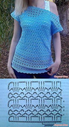 """A céu aberto túnica crochet.  Hvastik: Diário do """"Knitting"""" - Mom País."""