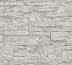 Tapete Wood`n Stone 1005 cm H x 53 cm B East Urban Home Farbe: Grau-Weiß Said Wallpaper, Cream Wallpaper, Stone Wallpaper, Embossed Wallpaper, Wallpaper Panels, Vinyl Wallpaper, Textured Wallpaper, Wallpaper Roll, Adhesive Wallpaper