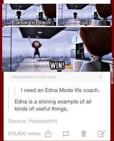 Edna is my favorite pixar character lol Disney Pixar, Disney Jokes, Disney And Dreamworks, Disney High, Funny Disney, Disney Films, Funny Quotes, Funny Memes, Hilarious