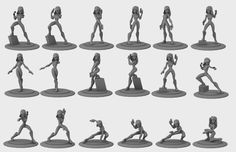 Concept art and 3D sculpts from Disney Infinity - toys/video game.