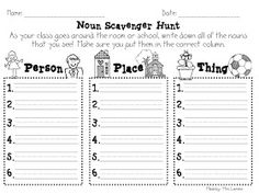 noun sorts (person/place/thing & common/proper)