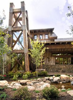 House in Deer Valley, Utah - rustic - Exterior - Other Metro - Trestlewood