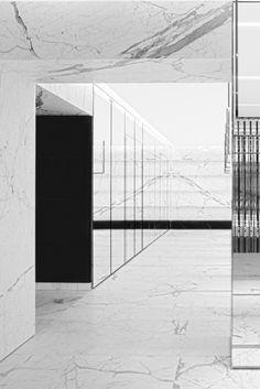 Saint Laurent flagship store,  Avenue Montaigne, Paris designed by Hedi Slimane