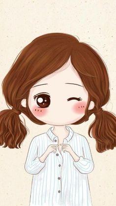Love Cartoon Couple, Cartoon Girl Images, Chibi Couple, Cute Couple Art, Cute Love Cartoons, Cartoon Pics, Anime Chibi, Kawaii Anime, Kawaii Cute