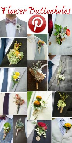 Boho Pins: Flower Buttonholes