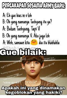 K Meme, Funny Kpop Memes, Bts Memes, Funny Quotes, Life Quotes, Bts Imagine, Quotes Indonesia, Good Jokes, Foto Bts