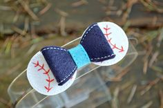 Baseball Bow Embellishment ITH In the Hoop by Bobbin4appliques, $5.00