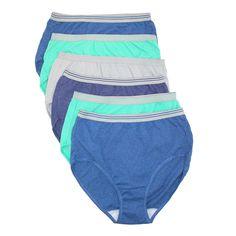 Fruit of the Loom Women's Bright Heather Brief Underwear (6 Pack)