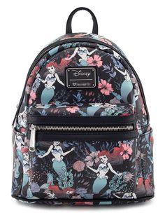 75365a13e15c Loungefly Disney Ariel The Little Mermaid Floral Mini Backpack Purse