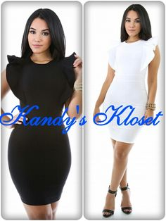 Description  This dress features a thick stretch knit, round neckline, sleeveless construction, ruffled details, finished with back zipper closure.  *62% Rayon *35% Nylon *3% Spandex *Hand wash cold water *Do not bleach