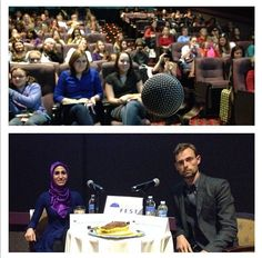 """We did a talk at #yallfest called """"After the Peculiar Wedding"""" which was not our idea but we had fun anyway - via Ransom Riggs"""