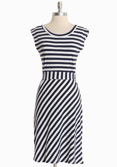 Afternoon Meadow Striped Dress By Synergy  $59.99  - I think I need this dress.