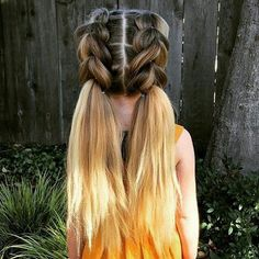 These Pull through Pigtail braid will keep you insta ready from any angle  Checkout ☝ #hairstyles