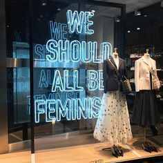 """We should all be feminists"" @dior #colette #Dior #colettewindow #pfw"