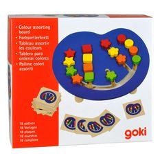 "Goki - Игра с цветни форми ""Подреди цветовете"" Puzzle Toys, Board, Color"