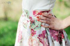 Spódniczka z kontrafałdami kwiaty retro vintage czerwone SHOCK share&block