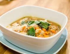 Eierschwammerl-Minestrone Soup, Ethnic Recipes, Minestrone Soup Recipes, Mushroom Burger, Porcini Mushrooms, Meal, Soups