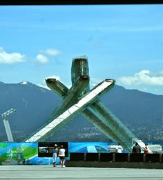2010 Winter Olympic flame Vancouver BC. Canada