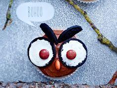 Verschreckte Muffin-Eulen